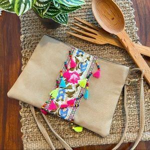 Lovely Boho Shoulder Bag with Tassel Detail